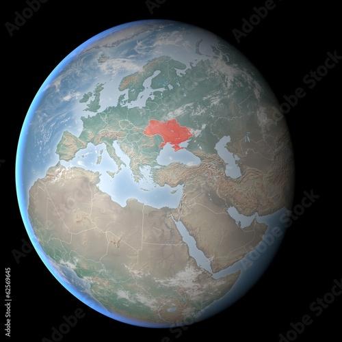 Europa Asia Cartina.Cartina Europa Asia Medio Oriente Crimea E Ucraina Buy