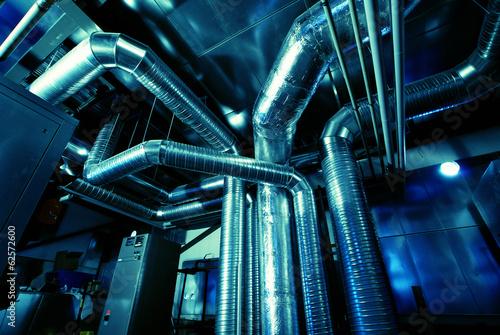 Fotografia, Obraz  Ventilation pipes of an air condition