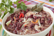 Red Bean Soup With Sauerkraut And Onions