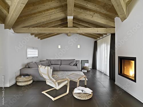 soggiorno moderno con camino – kaufen Sie dieses Foto und finden Sie ...