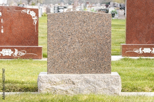 Photo Tombstones in the Cemetery