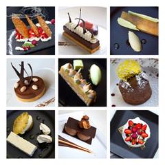 Panel Szklany Potrawy i napoje Desserts et pâtisseries