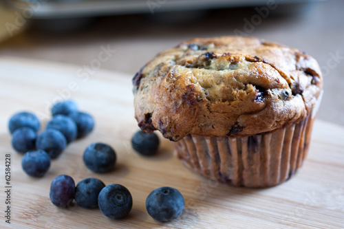 Fotografie, Obraz  Wild Blueberry Muffin