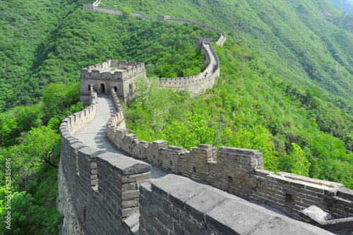 Cuadros en Lienzo Great Wall of China in Summer