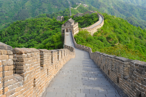 Photo sur Toile Muraille de Chine Great Wall of China in Summer