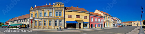 Obraz Town of Koprivnica main square panorama - fototapety do salonu