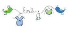 Baby Boy Clothes Line