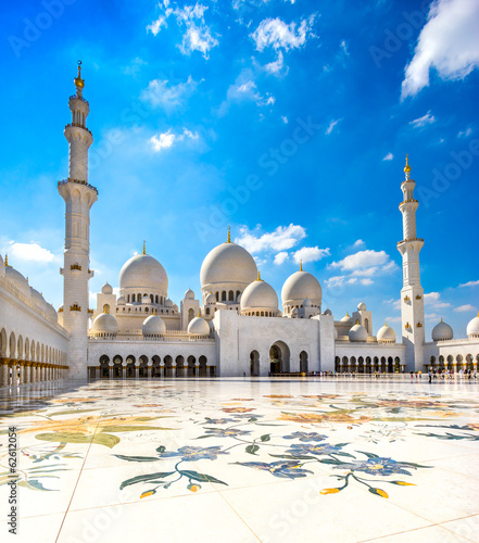Poster Abou Dabi Sheikh Zayed Mosque, Abu Dhabi, United Arab Emirates