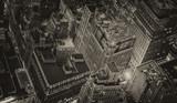 Wonderful New York City skyline with urban skyscrapers at night - 62622642