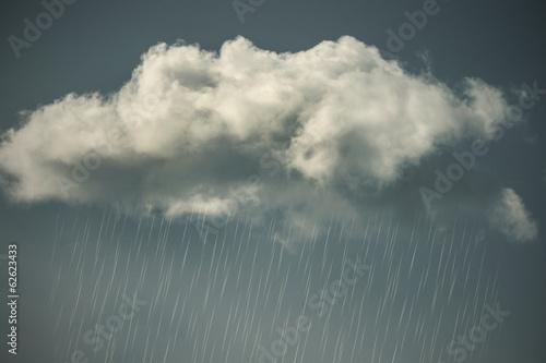 Fotografie, Obraz  Dešťové mraky