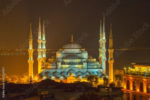 Fotografía La Mezquita Azul en Estambul por la noche