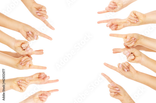 Foto  Finger zeigen