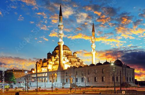 Photo  Istanbul mosque - Turkey, Yeni Cami