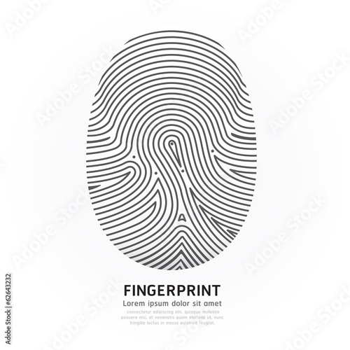 Fingerprint color vector illustration. Wall mural