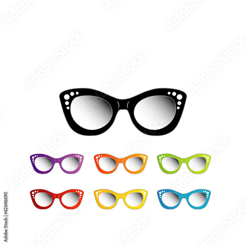 Fotografering  Vintage cat eye eyewear for ladies