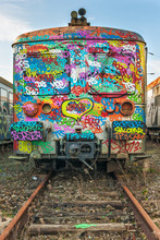 Heavy Tagged Abandoned Train