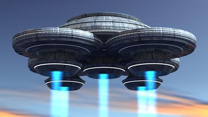 Fototapeta Fantasy 3d Spaceship