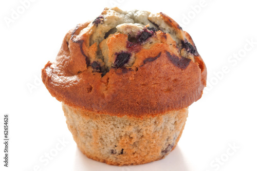 Blueberry muffin on white surface Canvas Print