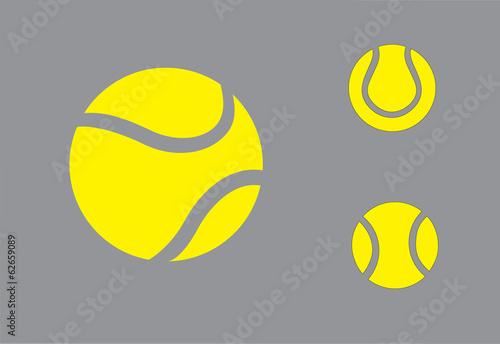 Slika na platnu yellow colorful Tennis balls symbol icon set concept design
