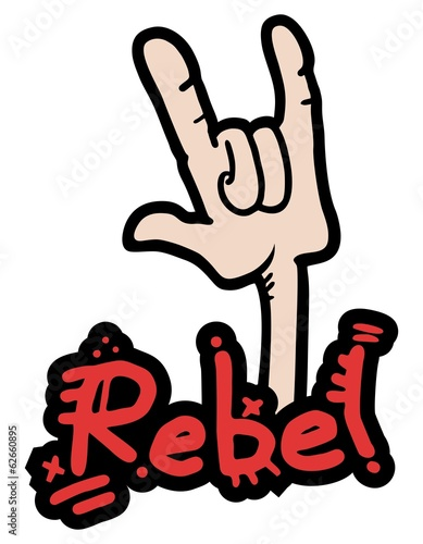 Fotografija  Rebel gesture