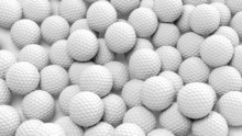 Many Golf Balls Together Close...