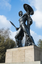 Statue Of Achilles In Hyde Park, London, UK, Dedicated To The Du