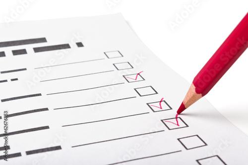 Fotografie, Obraz  questionnaire