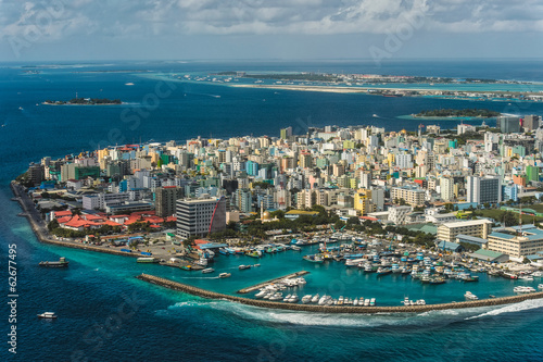 Fotomural  Maldivian capital from above