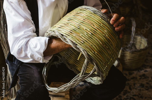 Photo  Handmade basket, traditional crafts of Sardinia, Italy
