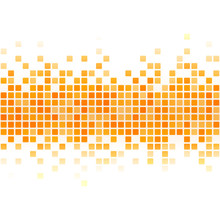 Abstract Yellow Pixel Backgrou...