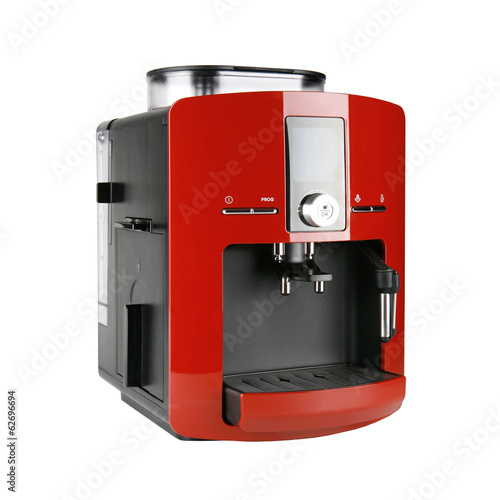 Red espresso machine Canvas-taulu