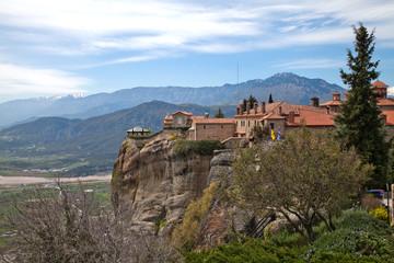 Fototapeta na wymiar Греция. Метеоры. Монастырь Святого Стефана