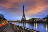 Fototapeta Fototapety Paryż - Tour Eiffel Paris et Pont Bir-Hakeim