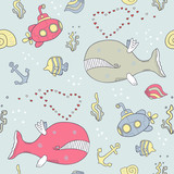 sea life seamless background