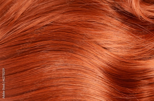 Cuadros en Lienzo Beautiful red hair as a background