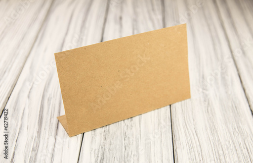paper nameplate on old wood background buy this stock photo and
