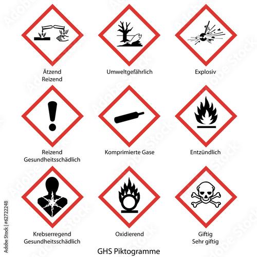 Fotografie, Obraz  GHS Piktogramme
