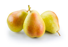Ripe Pears Isolated On White. With Clipping Path