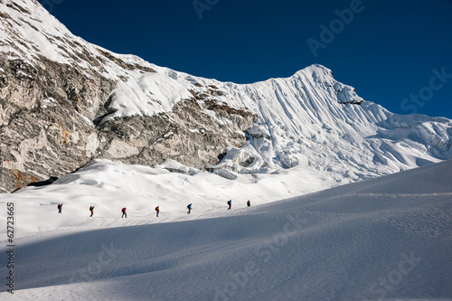 Fotografering  Imja Tse or Island peak climbing, Everest region, Nepal