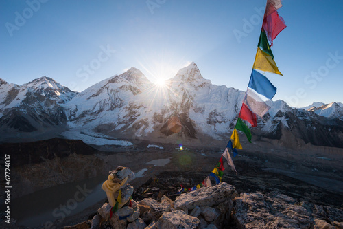 Wall Murals Nepal Mt.Everest at sunrise from Kala Patthar summit, Nepal