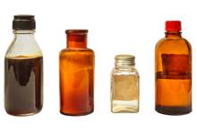 Four Vintage Medicine Bottles ...