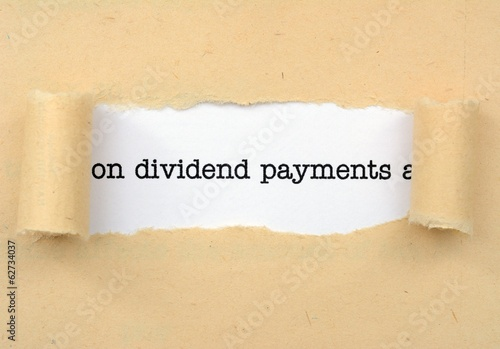 Fotografía  Dividend payments