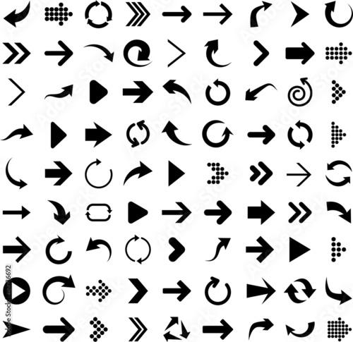 Valokuva Set of arrow icons.