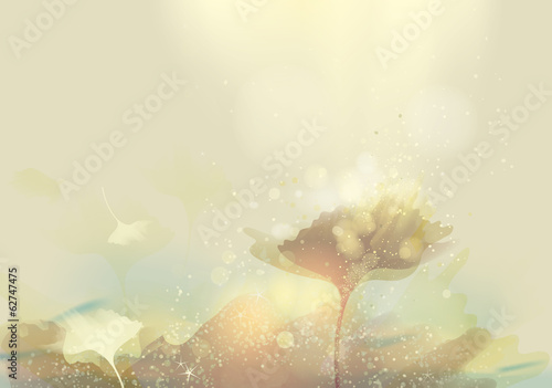 Abstract landscape / Enchanting gold nature
