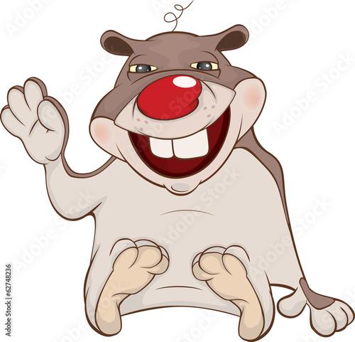 Papiers peints Chambre bébé Hamster cartoon