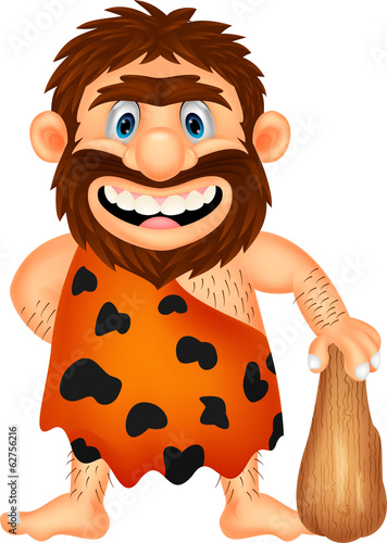 Photo  Funny caveman cartoon
