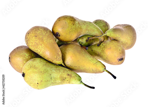 In de dag Baobab Green Pear Isolated on White Background