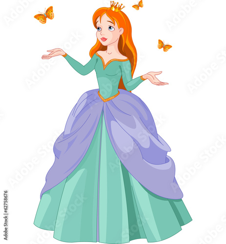 Printed kitchen splashbacks Fairytale World Princess and butterflies