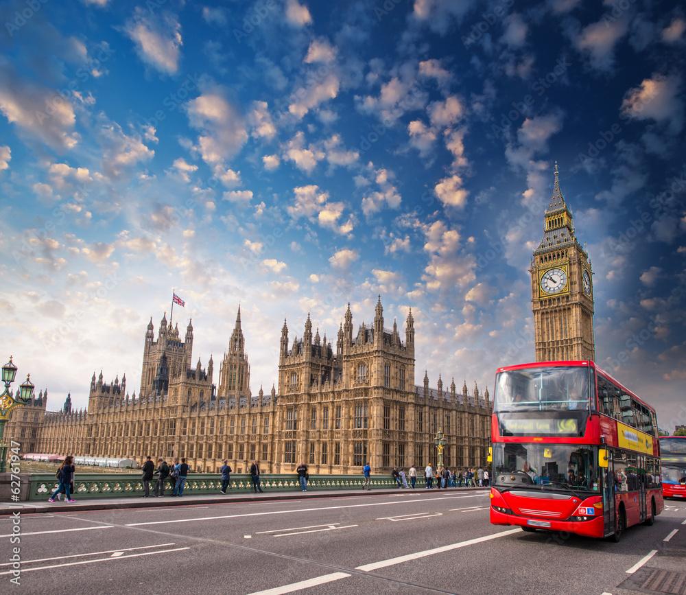 Plakat w ramie Londyn
