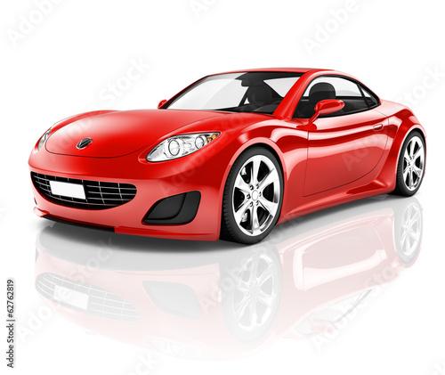 czerwony-samochod-sportowy-3d